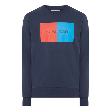 Colour Block Logo Sweatshirt, ${color}