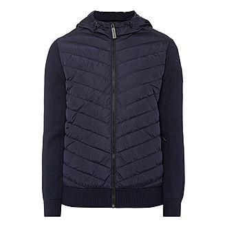 Hooded Hybridge Knit Jacket