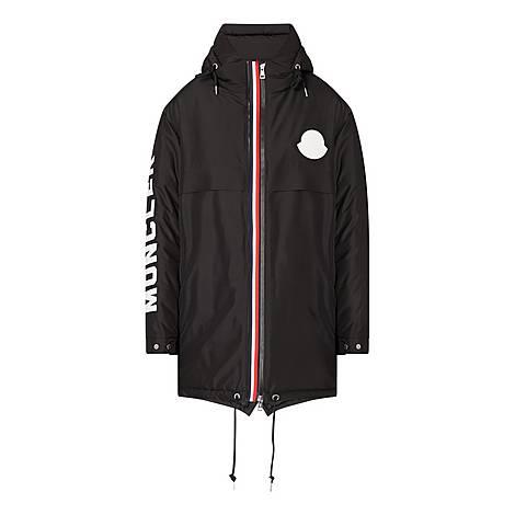 Striped Charnier Parka Jacket, ${color}