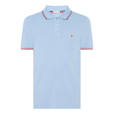 Striped Tipped Polo Shirt, ${color}