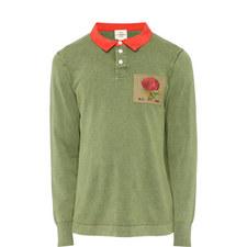 Faux Collar Rose Sweater