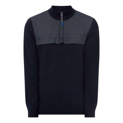 Seabert Half Zip Nylon Sweater, ${color}