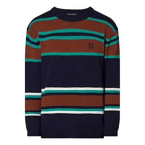 Nimah Face Striped Sweater, ${color}