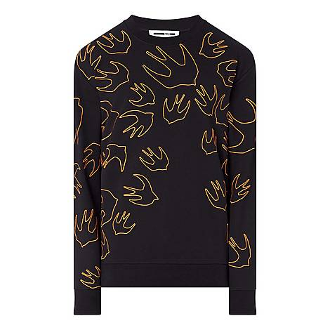 Swallow Outline Sweatshirt, ${color}