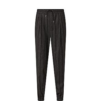 Pinstripe Tailored Jersey Trousers
