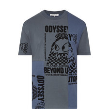 Petrol Patchwork T-Shirt