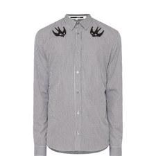 Swallow Check Print Shirt