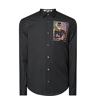 Fuzzed Out Printed Shirt