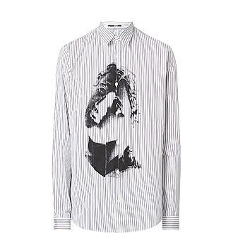 Stripe Sculpture Print Shirt