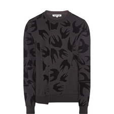 Swallow Motif Sweatshirt
