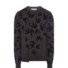 Swallow Motif Sweatshirt