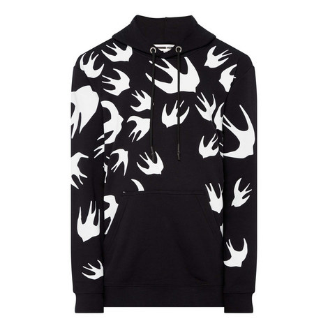 Signature Swallow Print Hoodie, ${color}