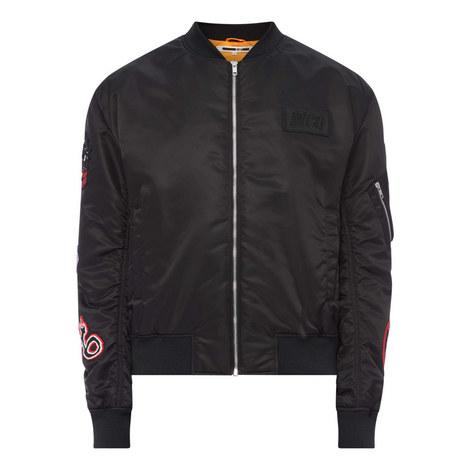 Badge Bomber Jacket, ${color}