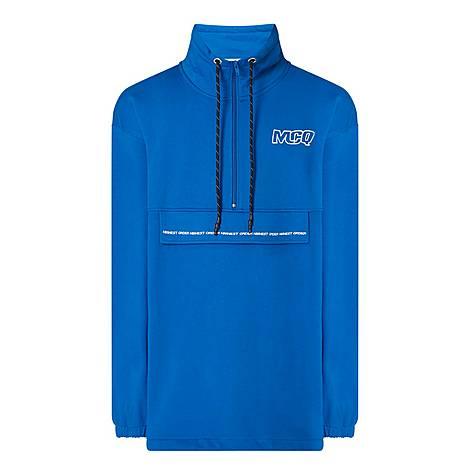 Funnel Neck Logo Sweatshirt, ${color}
