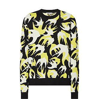 Swallow Print Sweater