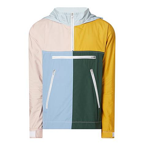 Block Panel Half Zip Jacket, ${color}