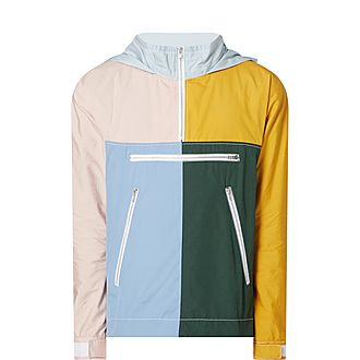 Block Panel Half Zip Jacket