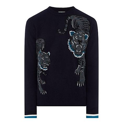 Double Tiger Embroidered Sweater, ${color}