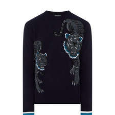 Double Tiger Embroidered Sweater