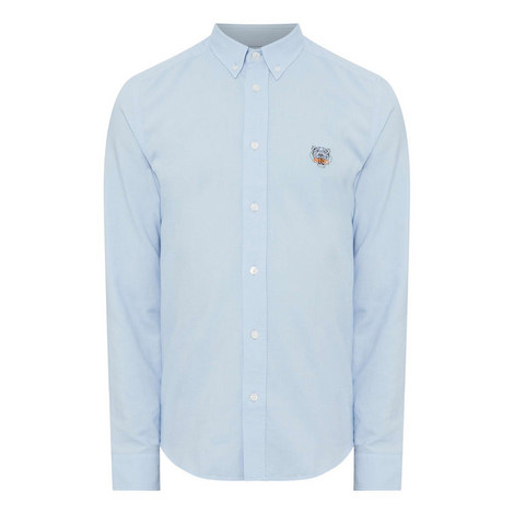 Embroidered Tiger Oxford Shirt, ${color}