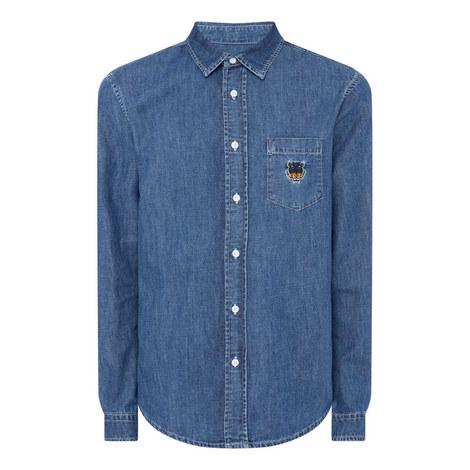 Regular Denim Shirt, ${color}