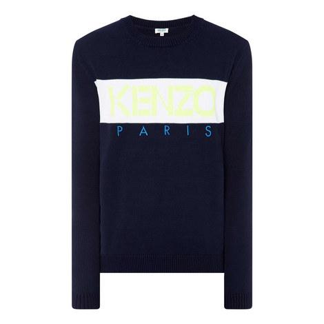 Logo Intarsia Knit Sweater, ${color}