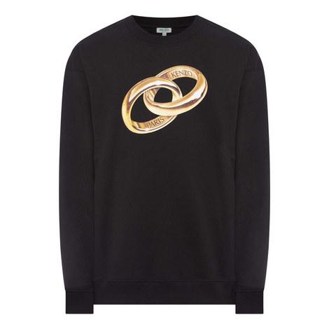 Double Ring Print Sweatshirt, ${color}
