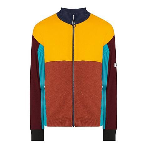Block Panel Zip Wool Sweater, ${color}