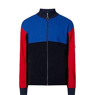 Block Panel Zip Wool Sweater