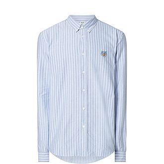 Tiger Striped Regular Oxford Shirt
