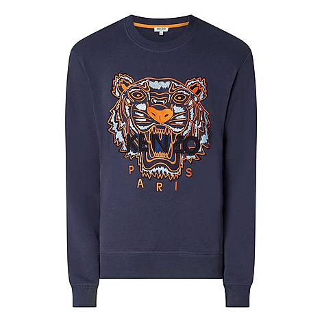 Tiger Crew Neck Sweatshirt, ${color}
