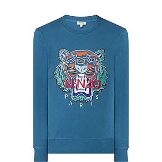 Holiday Crew Neck Tiger Sweatshirt