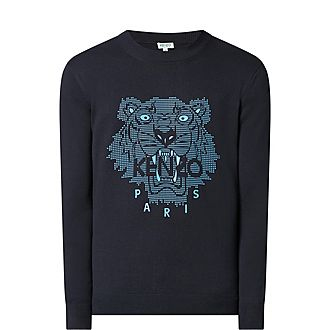 Rubber Tiger Logo Sweater