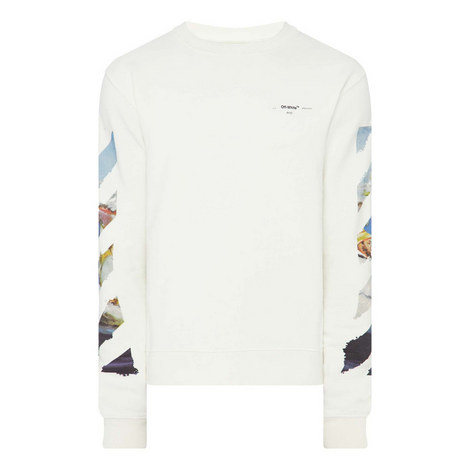 Painting Striped Sweatshirt, ${color}