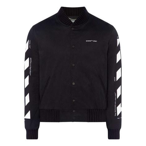 Varsity Striped Bomber Jacket, ${color}