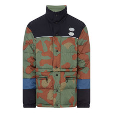 Patchwork Camo Puffer Jacket