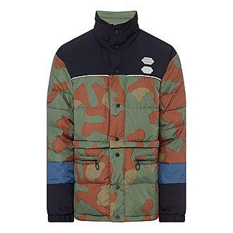 Patchwork Camo Puffer Jacket