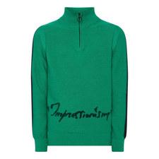 Zipped Turtleneck Sweater