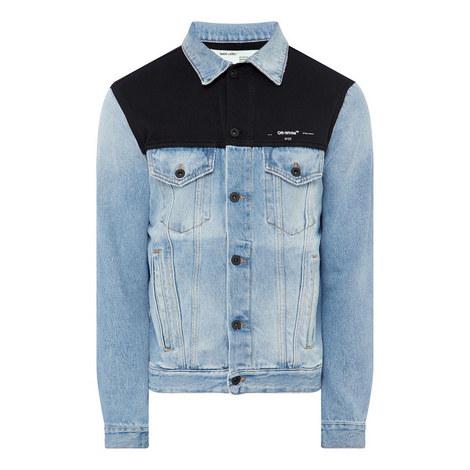 Fleece Yoke Denim Jacket, ${color}