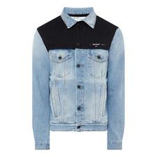 Fleece Yoke Denim Jacket