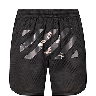 Caravaggio Striped Mesh Shorts