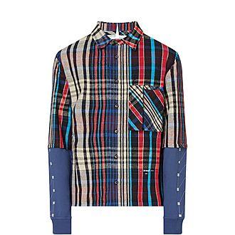 Jersey Sleeve Check Shirt