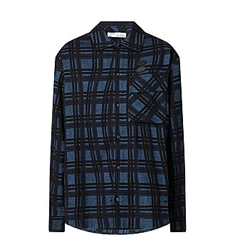 Distorted Check Flannel Shirt