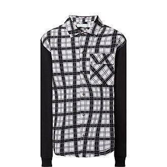 Contrast Sleeve Check Shirt