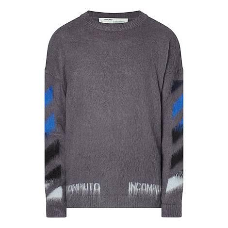 Diagonal Crew Neck Sweater, ${color}