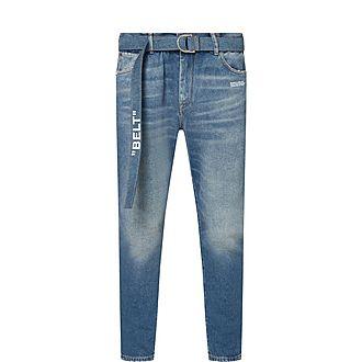 Industrial Belt Slim Jeans