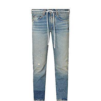 New Vintage Rope Tie Jeans