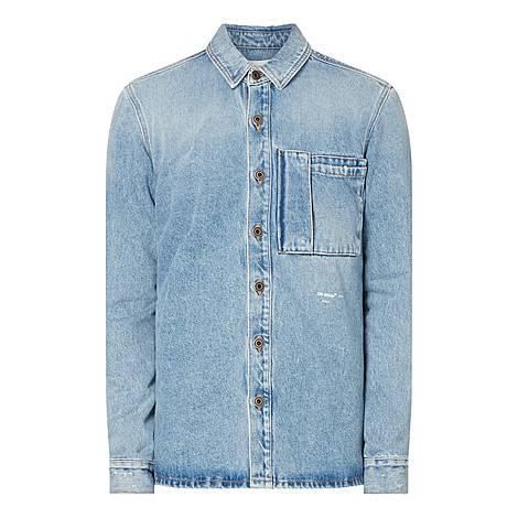 Bleach Denim Shirt, ${color}