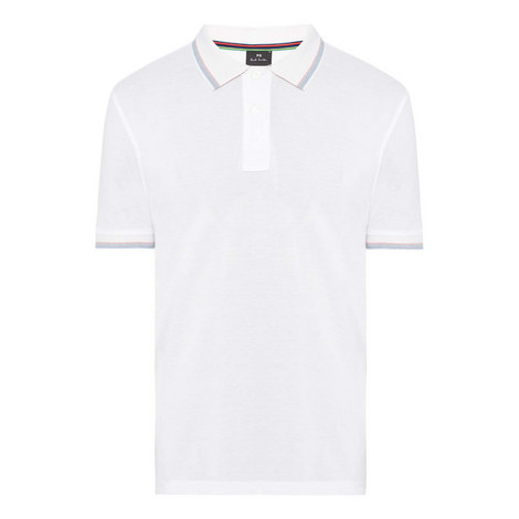 Stripe Trim Polo Shirt, ${color}