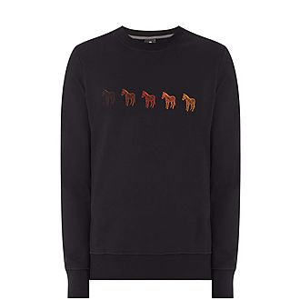Embroidered Zebra Sweatshirt